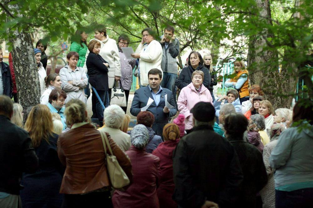 Константин Янкаускас на встрече с жителями округа