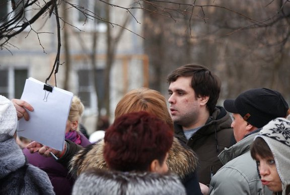 Константин Янкаускас на митинге