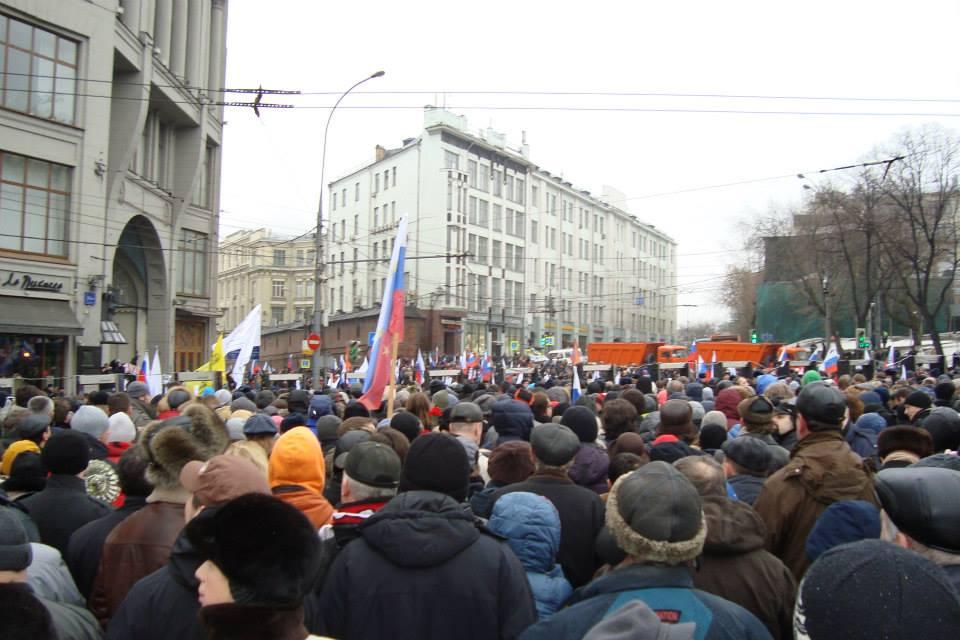 Начало шествия памяти Бориса Немцова