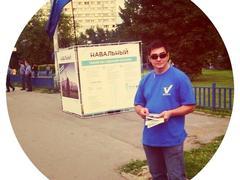Сергей Давидис агитирует за Алексея Навального