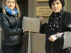 Передача петиции за отставку Калины в приемную Президента РФ