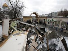 Разрушенные торговые павильоны. Фото: Reuters/Forum