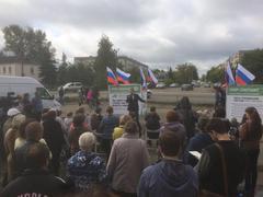 Выступление А. Навального на встрече в Буе