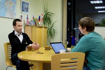Анатолий Лапшин берет интервью у Евгения Криштафовича